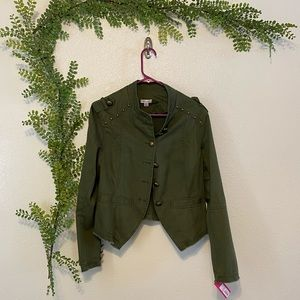 NWT Green Utility Jacket with brass hardware